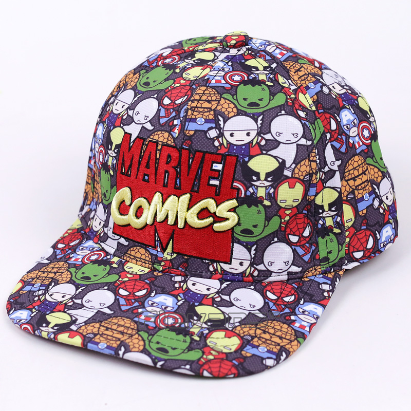 2017 New Summer Men and Women Marvel Comics Baseball Cap Snapback Adjustable Flat Along Street Hip Hop Caps Gorras Hat 2016 new korean children s pirate ship level for men and women baby embroidered baseball cap along the fringes of hip hop hat