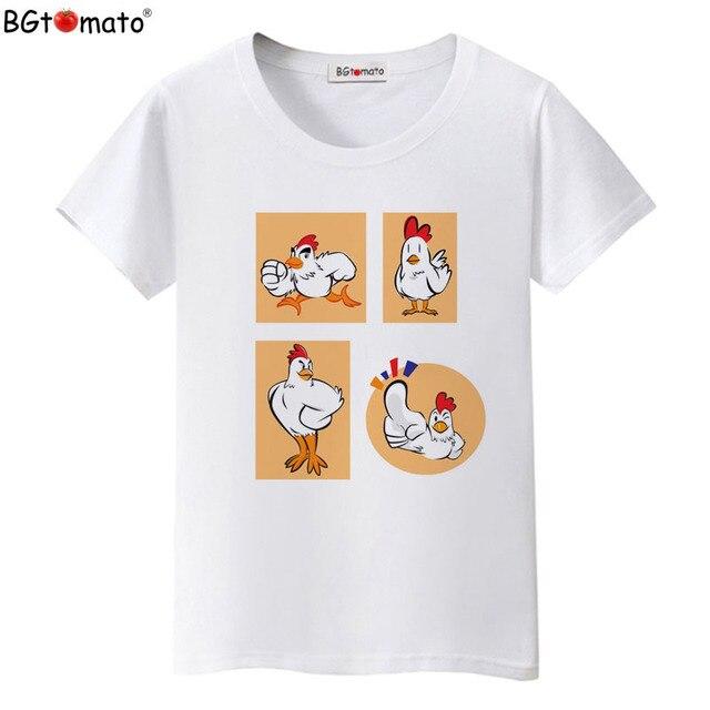 d398f0279c BGtomato T shirt Brave chicken funny t shirts New style summer kawaii top  tees Original brand women tshirt Cheap sale