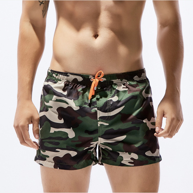 Summer Men Board Shorts Mens Swim Short Swimwear Camouflage Polyester Bermuda Boardshort Quick Dry Man Surf Shots Pocket Design