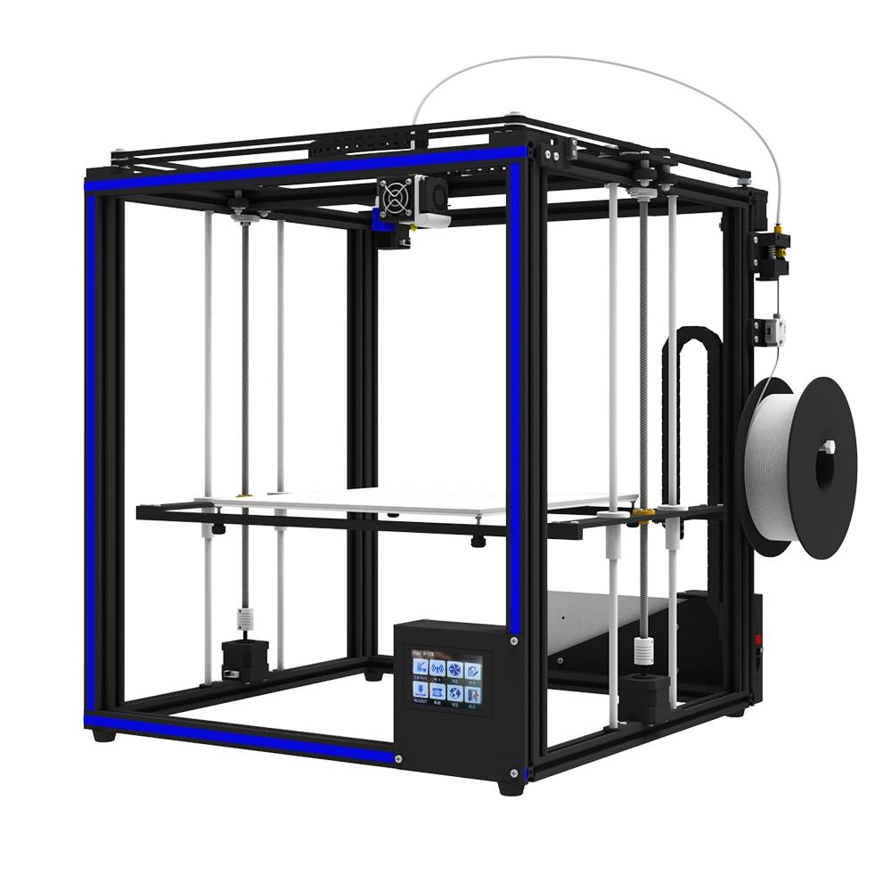 Vendita calda X5SA-400 desktop 3d stampante di Alta Precisione 3D macchina Auto livellamento di Grande formato di stampa 400*400*400mm