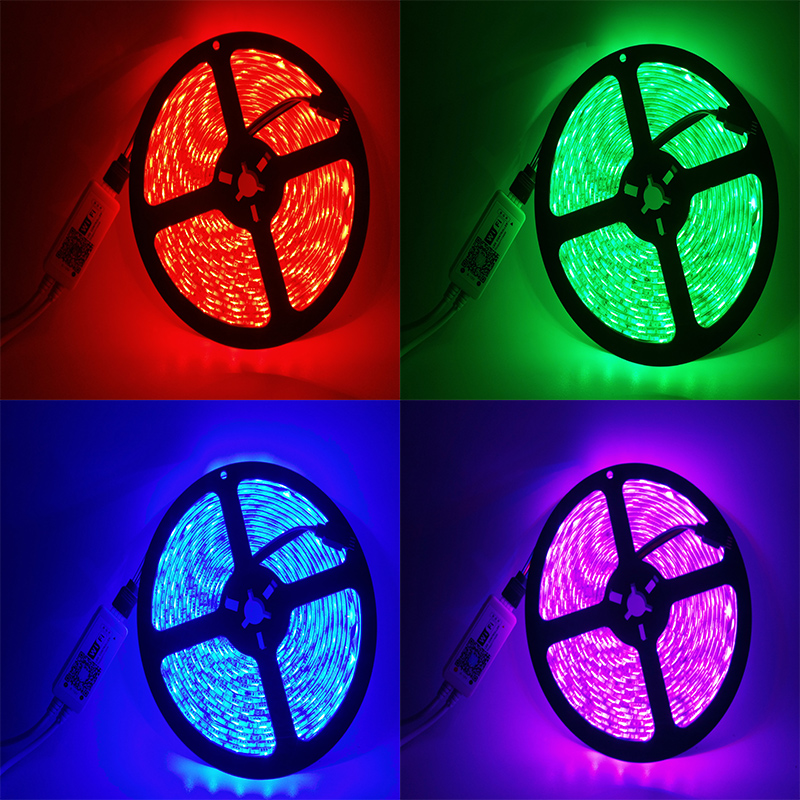 Tiras de Led 5 m 5050 rgb wi-fi Protection Level : Ip65 Waterproof Ip20 Non Waterproof