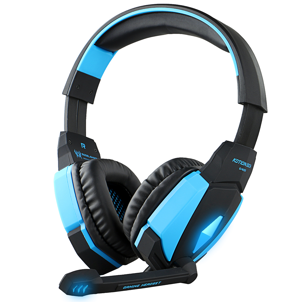 Kotion EACH G4000 USB Stereo Gaming Headphone Headset Headband with Microphone Volume Control LED Light for PC Game