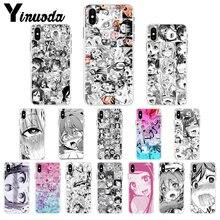 Yinuoda Anime chica dibujos animados Japón caras lindas carcasa suave teléfono cubierta 8 para el iPhone de Apple 7 6 6S Plus X XS MAX 5 5S SE XR celulares
