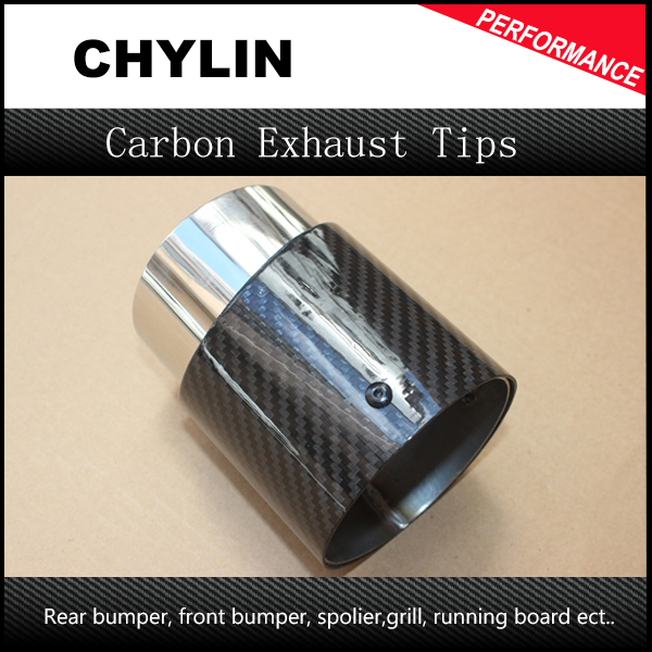 Free Shipping Mini Cooper car carbon fiber exhaust pipes Muffler tips fit for mini cooper R55 R56 R57 R60 F54 F55 F56