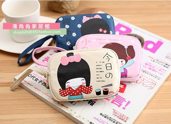 10pcs/lot Japanese kawaii girl Coin bag kids birthday party favor baby shower souvenirs
