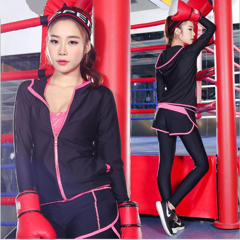 New women sports female yoga workout set clothes Zipper Long Sleeve - Sportswear and Accessories - Photo 3