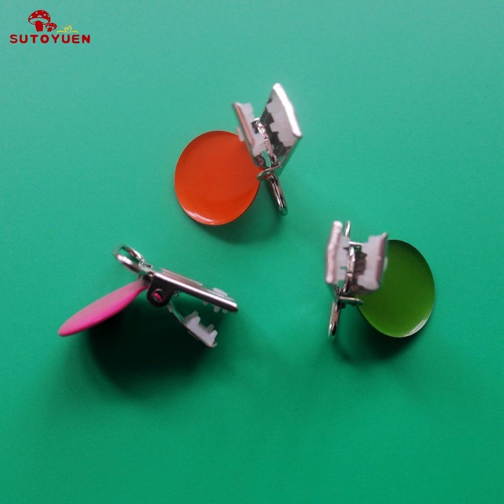 50 stks emaille ronde metalen jarretelle clips met plastic tanden, - Voeden - Foto 4