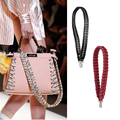 LALA IKAI 2017 Strap You Floral Shoulder Strap Designer Rivets Bag Belt Interchangeable Guitar Strap Woman Bag Accessory BWA0635
