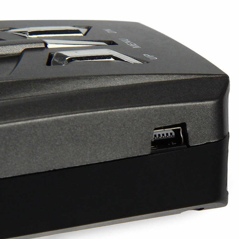V9 ความเร็วสูง 360 องศารถเครื่องตรวจจับเรดาร์เตือนเตือนด้วยเสียง 16 Band Auto LED Display ภาษาอังกฤษ/รัสเซียรุ่น