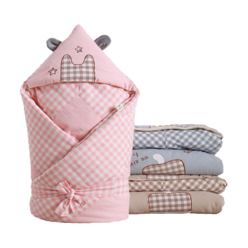 100x100cm Baby Swaddle Baby Blanket Cotton Thick Warm Envelope For Newborns Infant Wrap Baby Bedding Sleeping