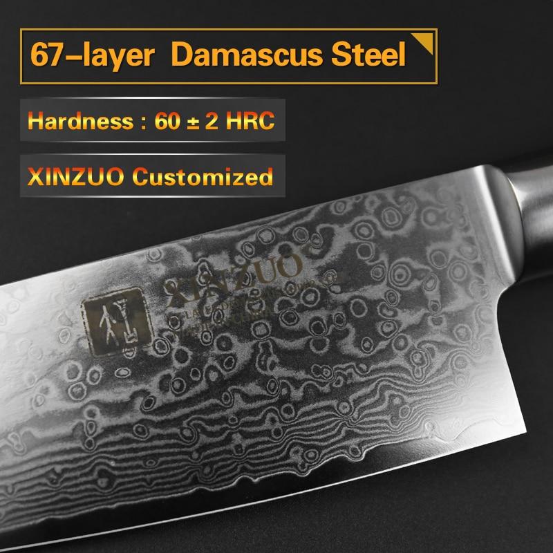 XINZUO 2 PCS Küche Messer Set Hohe Carbon VG10 Chef Utility Messer 67 Schichten Japanischen Damaskus Edelstahl Pakkawood Griff-in Messer-Sets aus Heim und Garten bei  Gruppe 3
