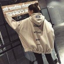 Women Hoodies Hip Hop Fashion Headwear Sweatshirts Letter Print Casual