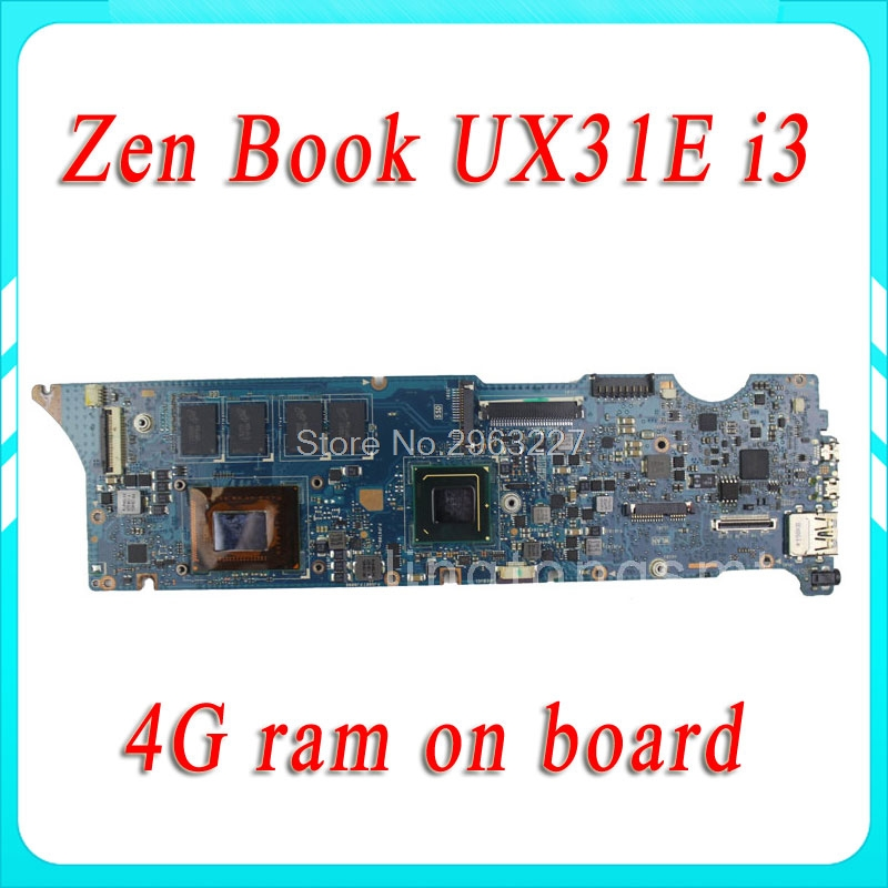UX31E for ASUS motherboard REV3.2 Mainboard Processor i3 4G Memory on board 100% tested for asus k43sd laptop motherboard processor i3 8 memory 2g mainboard 100