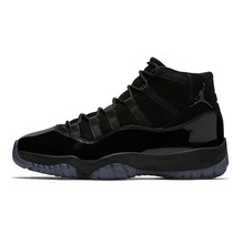 Jordan 11 Basketball Shoes Cap And Gown all black Winter Shoes Lace-up Warm Outdoor Sport Shoes(China)