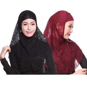 Hijabs muslim islamic scarf scarves Lace Hijab caps Bonnet hijab turban ramadan Hijab underscarf caps for women islamic clothing