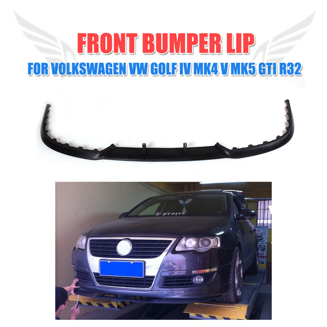 US $58 85 13% OFF|Auto Front Bumper Lip Apron Spoiler Unpainted PU Fit for  VW Golf 4 IV MK4 V MK5 GT GTI R32 Car Styling-in Bumpers from Automobiles &