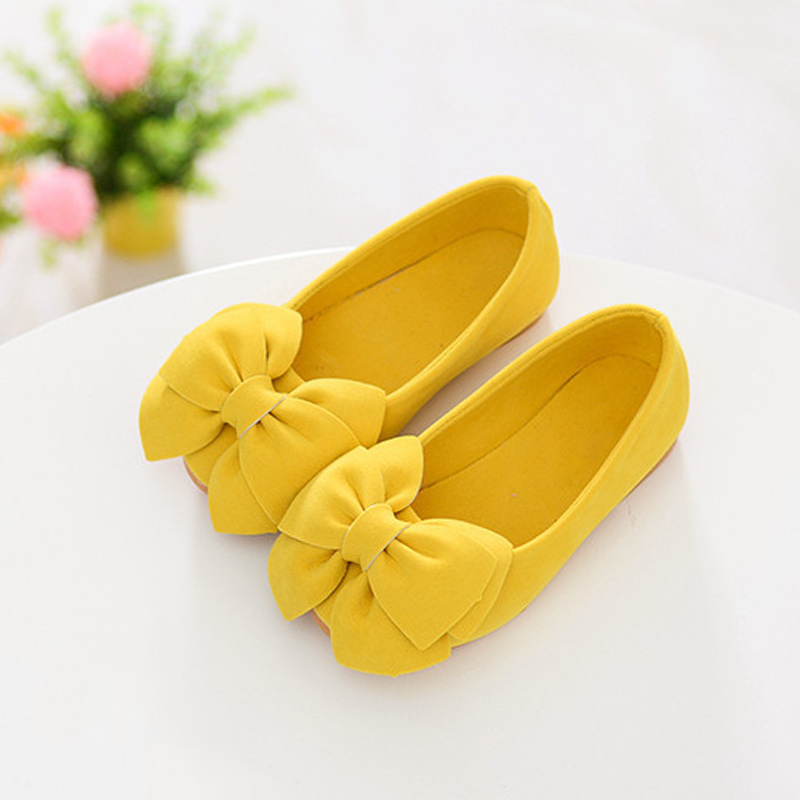 2018 New 1 Pair Princess Girls Shoes Bow Flat Shoes Casual Party Children Toddler Kids Flower Shoes @