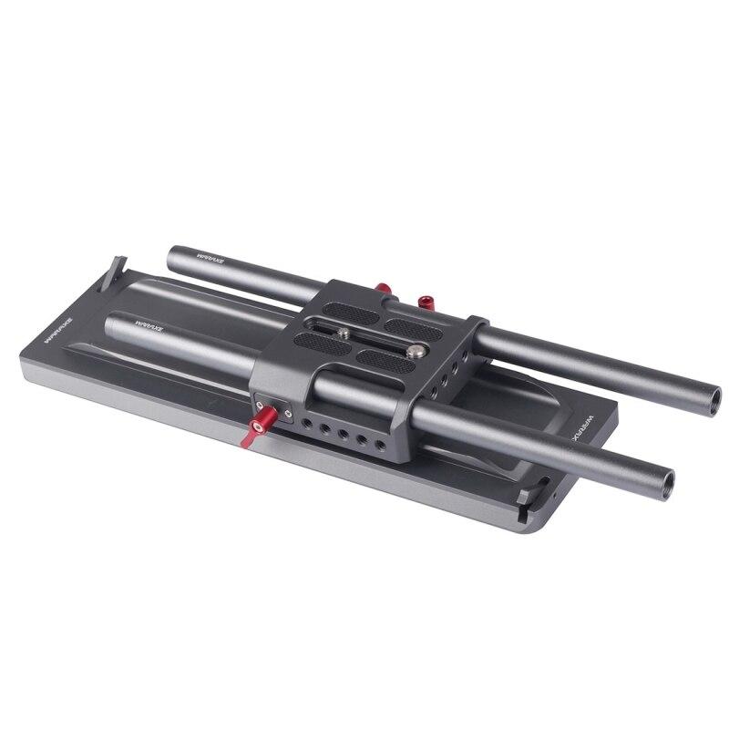 WARAXE 12 дюймов ARRI Стандартный ласточкин хвост с предохранителем + ARRI Quick Release Plate + 2x15 мм Длина 300 мм Алюминий сплав железнодорожных стержней