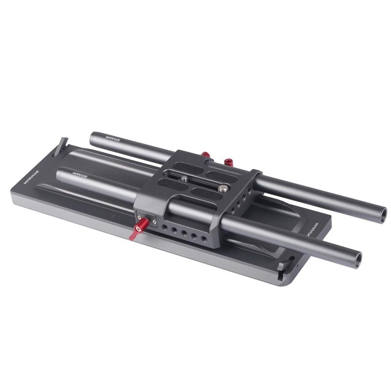 WARAXE 12 pouce ARRI Standard Queue D'aronde avec Cran De Sécurité + ARRI Plateau Rapide + 2x15mm Longueur 300mm En Alliage D'aluminium Rail Tiges