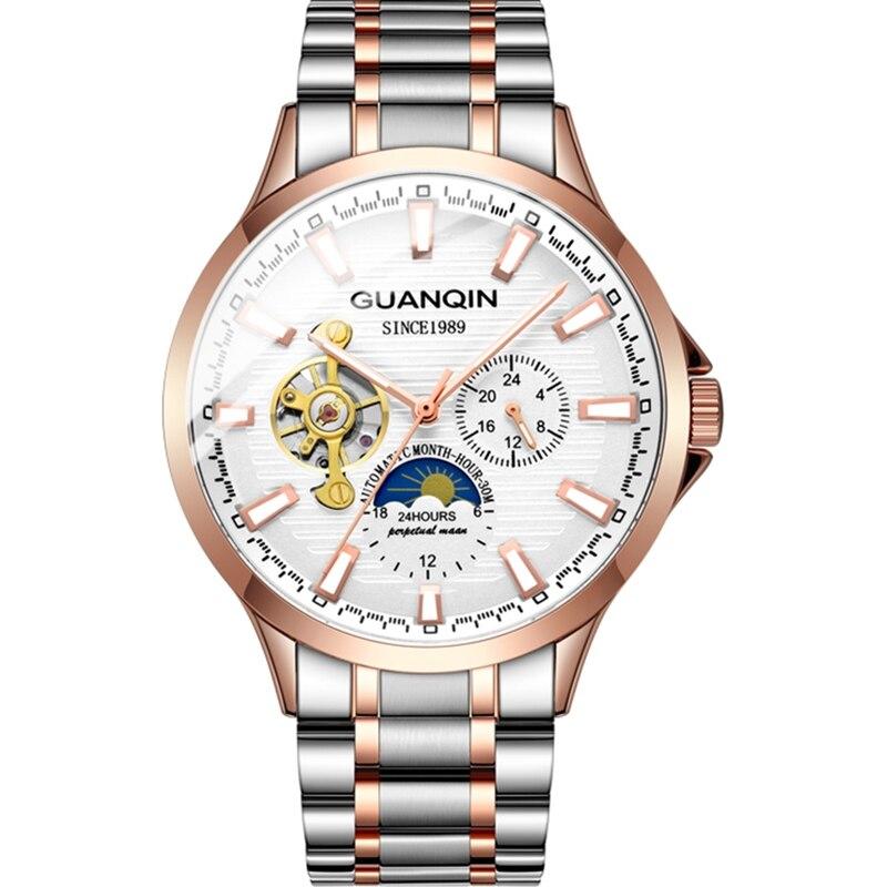 HTB1pb5Ua21H3KVjSZFBq6zSMXXaP GUANQIN 2019 new watch men waterproof Automatic Luminous men watches top brand luxury skeleton clock men leather erkek kol saati