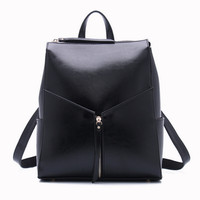 Genuine Leather Backpack Office Bag Ladies Work Bags Backpacks For Teenage Girls Women Black Leather Backpack