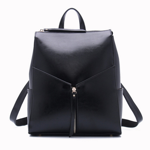 Aliexpress.com : Buy women black leather backpack female fashion ...