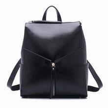Femmes noir sac à dos en cuir femelle de mode bureau sac dames sacs de travail élégant sacs à dos pour adolescente filles mochilas femininas
