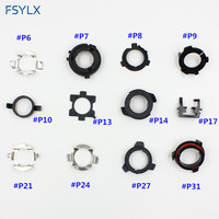 FSYLX 10 100PCS Adapter Car Led Headlight Headlamp Auto H7 Adaptor Base H7 D2 Connector Led