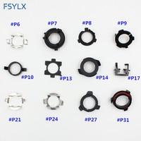 FSYLX 10 100PCS Adapter Car Led Headlight Headlamp Auto H7 Adaptor Base H7 D2 Connector Led