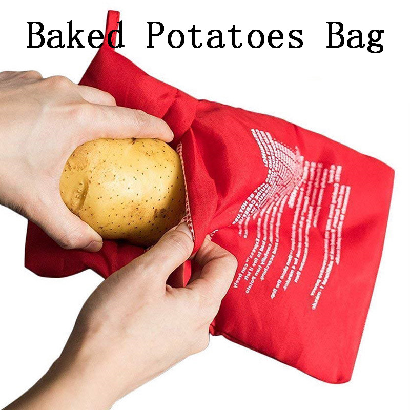 1PCS Baking Bag For Kitchen Microwave Cooking Potatoes lunch Food Bags For Washable Oven Bag For Kitchen Cooking Accessories in Baking Mats Liners from Home Garden