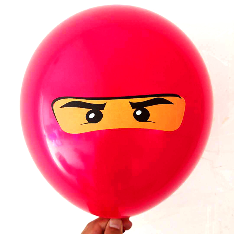 Image 4 - 10Pcs/lot Legoing Ninjagoing Theme Balloons for Boys Kids Birthday Party Decoration 12inch Latex Ninjago Balloon Party Supplies-in Ballons & Accessories from Home & Garden