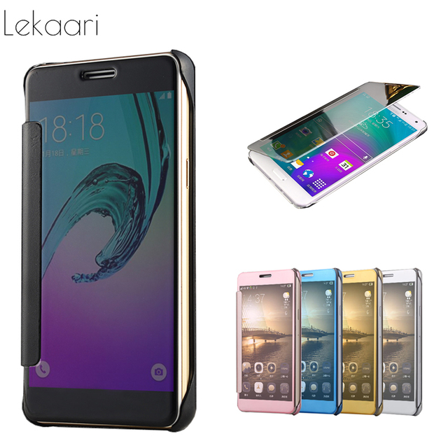 wholesale dealer 09517 49654 US $3.69 11% OFF|Luxury Case For Samsung Galaxy A7 SM A700F Smart Clear  Mirror View Flip Cover for Samsung A7 2015 A700 A7000 A700F Case Coque-in  Flip ...