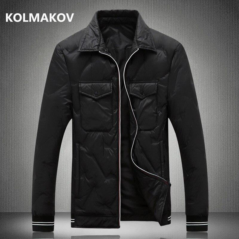 2018 Winter Men fashion Business   Down     Coat   Winter Casual   Down   Jacket Parka men's Thicken 90% white duck   down   jackets men
