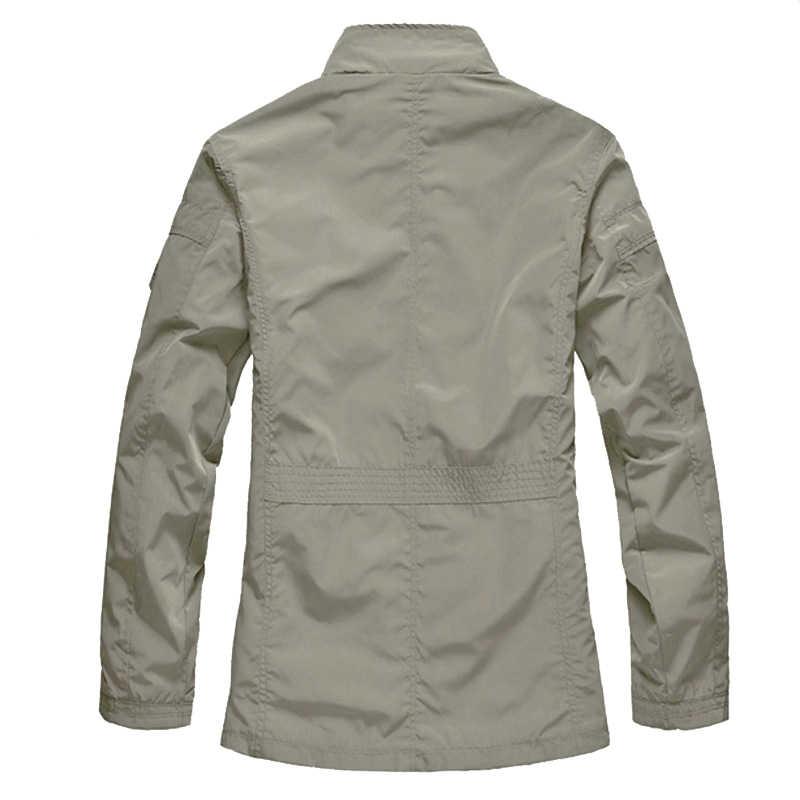 M-5XL Мужская Повседневная Длинная куртка большого размера, весенне-осенняя мужская деловая ветровка, тонкая верхняя одежда, парка, свободная университетская куртка-бомбер CF26