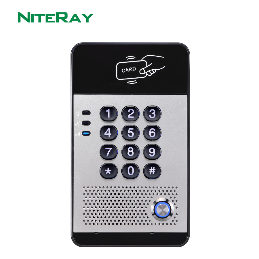 Access Control SIP Door Phone With Card Reader & Touch Numeric Keyboard