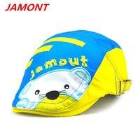 JAMONT 2017 cut kid sun hat boy and girl berets cap character children berets