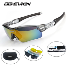 OG-EVKIN Cycling Eyewear Polarized Sport Goggles Bicycle Sun Glasses Bike Men Cycling Glasses Interchangeable Lens Sunglasses