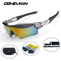 OG EVKIN Cycling Eyewear Polarized Sport Goggles Bicycle Sun Glasses Bike Men Cycling Glasses Interchangeable Lens Sunglasses