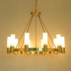 Amerykańska RH Loft Retro miedzi doprowadziły żyrandol Lustre Luminarias E14 żyrandol oświetlenie dla Foyer  mocowane do sufitu lub do Wisząca lampa