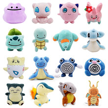 Snorlax Pikachu Lapras Dragonite Jigglypuff Psyduck Idem Squirtle Bulbasaur Charizard Cubone Togepi Plush Soft Toy Stuffed Boneca(China)