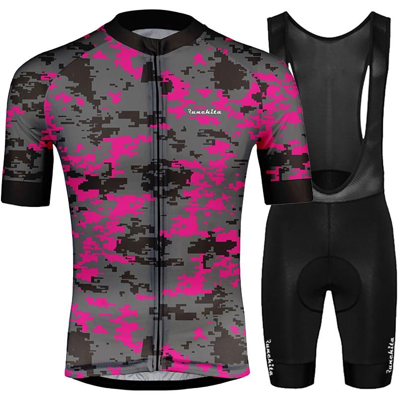 Ropa ciclismo hombre RUNCHITA 2019 cycling set short sleeve bike tenue cycliste homme equipacion verano