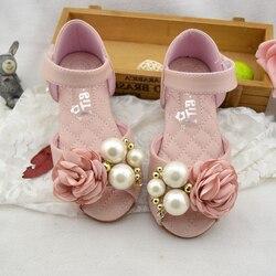 Kwiat frezowanie sandały dla dziewczynek prawdziwej skóry rybie usta dzieci letnie buty księżniczka Party Dress buty płaskie plażowe Sandalias