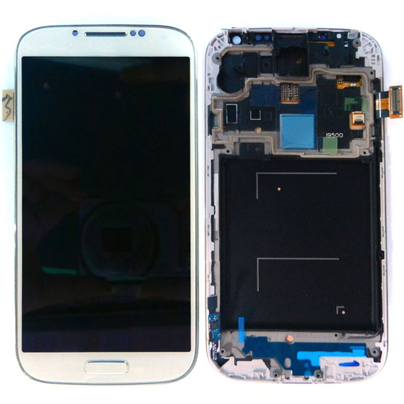 LCD Display Touch Screen Digitizer Assembly With Frame Bezel For Samsung Galaxy S4 I9500 Free Shipping