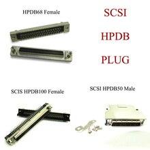 1 шт. SCSI 50 Булавки 50 P 68 Булавки 100 Булавки hpdb50 hpdb68p hpdb100p MDR мужской женский разъем адаптера