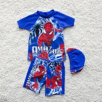 Lovely Cartoon Kids Swimsuit Quality Boys Swimwear Teenagers Two pieces Blue Infant Bath Suit Children Beachwear 2 10years