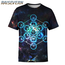 6d4e9ead RAISEVERN Summer Men/Women 3D T Shirts Print Trippy Psychedelic Whirlpool  Colorful Graphic T Shirt Hip Hop Tops Casual Clothing