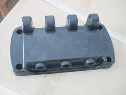 Black PP Head Panel with Discharge Holes Ice Cream Machine Replacement Spare Parts