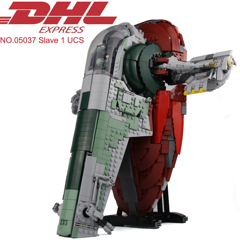 Lepin 05037 2067Pcs Star Wars Figures Slave 1 UCS Model Building Kits Blocks Bricks Set Toy For Children Gift Compatible 75060 lepin 05060 star series wars ucs naboo star type fighter aircraft model building blocks bricks compatible legoed 10026 toy gifts