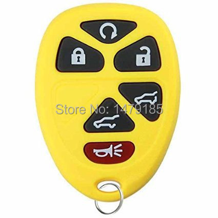 Colorful Replacement 6 Buttons Keyless Remote Key Fob Shell Case GMC Yukon XL Chevrolet Traverse Suburban Tahoe Cadillac