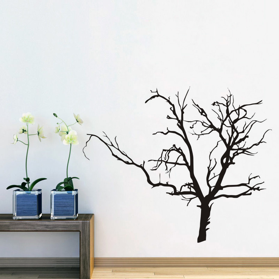 DCTOP Adhesive Scary Bare Removable Black Tree Wall Sticker Living Room  Vinyl Art Wall Decal For Kids Room Decoration  In Wall Stickers From Home U0026  Garden ... Part 41